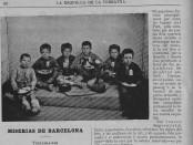 Trinxeraires,  hi havia més de 10.000 deambulant pels carrers de Barcelona.La Esquella de la torratxa, 07/02/1896.