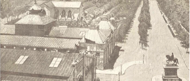 Vista de l'Exposició Universla de 1888. Font: Diari Oficial de l'Exposició, volume I, Arxiu Municipal Contemporani de Barcelona.