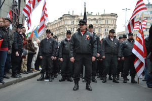 New Hungarian Guard unit at Jobbik rally in Budapest (photo: Orange Files).